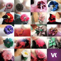 Handmade flower pins