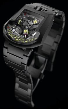 "URWERK UR-202S ""Full Metal Jacket"" Watch With Bracelet"