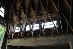 Hugo Häring - Gut Garkau | Flickr - Photo Sharing! Hans Scharoun, Wood Architecture, Wood Construction, Canopy, Woodworking, Image, Logs, Design, Engineering