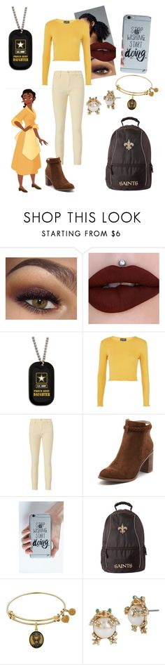 """""""Tiana"""" by kara-meyer ❤ liked on Polyvore featuring Topshop, Frame, Billini, Lalla and Betsey Johnson"""