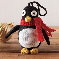 Penguin Ornament - Knitting Patterns and Crochet Patterns from KnitPicks.com