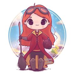 Chibi Quidditch Ginny! ✨✨ I absolutely love Ginny's character in the books  her and Luna's friendship always seemed so cute :3 What was your favourite friendship from HP?  • #ginny #ginnyweasley #weasley #harrypotter #harrypotter #harrypotterart #hogwarts #quidditch #gryffindor #gryffindorpride #cute #kawaii #chibi #instaart #instaartist #instadaily #illustration #illustrationoftheday #digitalart #digitalpainting