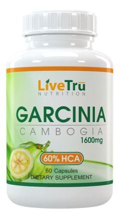 Garcinia Cambogia Pure Extract 1600mg With 60% HCA Extract For Maximum Weight Loss