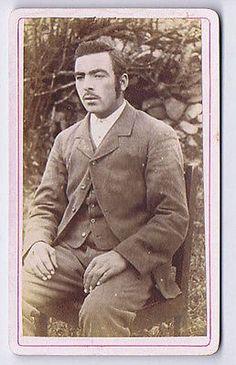 CDV Victorian Gentleman Seated in the Garden Carte de Visite Photograph in Collectables, Photographic Images, Antique (Pre-1940)   eBay