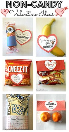 Non-Candy Valentine's Day Gift Bag Ideas For Kids #Healthy Valentines #Candy-free valentine's day gifts #Class valentines   http://www.sassydealz.com/2014/01/non-candy-valentines-day-gift-bags-for.html