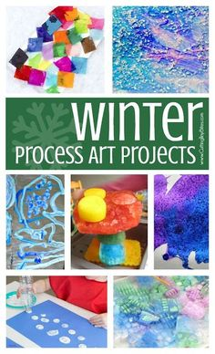 Winter Process Art-