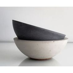 Solen Studios natural and dyed Concrete Bowls