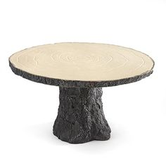 Rustic Log Cake Stand http://mediaplus.carlsoncraft.com/Wedding/Cake-Toppers/ZB-ZBK20763-Rustic-Log-Cake-Stand.pro Sturdy resin, rustic cake stand formed in the shape of a sawed log.