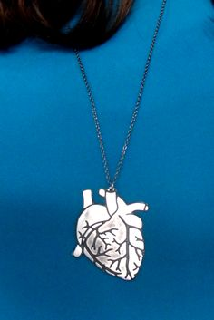 Anatomical heart-shapped necklace