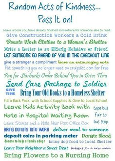 RAK~Quote :) Pass it on!  good to add some to our bucket list this summer
