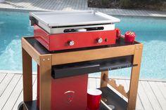 Une plancha rouge Verycook donnera une touche colorée à votre jardin !