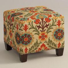 Adobe Santa Maria McKenzie Upholstered Ottoman   World Market