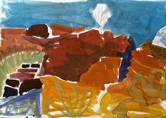 Meagan Jacobs Artist - Split Rock - Gouache on paper