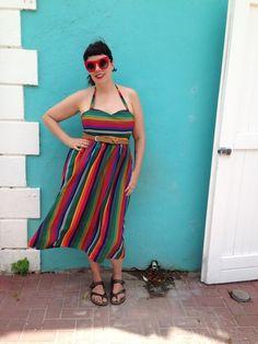 #stripes #modclothcollection #rainbow #multi #summer #sundress
