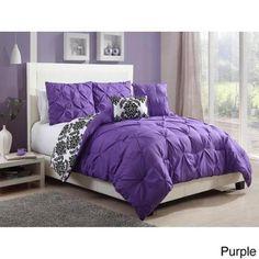 chelsea 4piece reversible comforter set walmartcom - Purple Comforters