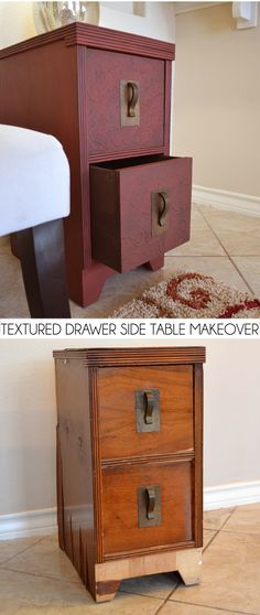 This post is brought to you by Plaid and Blueprint Social. Textured Drawer Side Table Makeover
