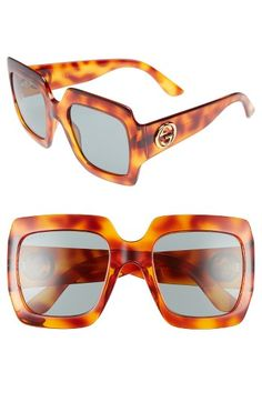 2bfc461610 Free shipping and returns on Gucci 54mm Square Sunglasses at Nordstrom.com.  Bold
