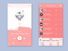 Here is some screens for our upcoming project, - music app.