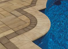 Cambridge Pavingstones with ArmorTec offers pavings options for patios, pools, walkways, driveways, landscape walls and outdoor living solutions. Swimming Pools Backyard, Backyard Landscaping, Landscaping Ideas, Cambridge Pavers, Pool Pavers, Dream Pools, Brick Patios, Landscape Walls, Concrete Patio