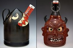 Custom Handmade Growlers    Made entirely by hand in Montana from American sourced materials, these ceramic growlers are totally and completely customizable, letting you dream up pretty much anything you want and see it turned into a reality. Just go easy on the gore, lest you find yourself less than enticed the next time you want a pint.