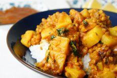 Indian red lentil and potato dhal, via @Alana Salisbury.