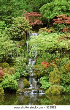 Portland Japanese Garden Arkivfotografier og billeder   Shutterstock