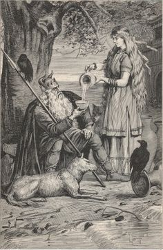 Norse Gods and Goddesses. Norse mythology emerged form Northern Germanic tribes with an oral tradition dated around the 9th century AD.  In this system, there were 2 families of gods, Aesir and Vanir. The Vanir were peaceful gods related to elves and life. The Aesir were warlike gods related to the giants.