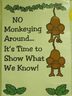 First Grade a la Carte: No Monkeying Around