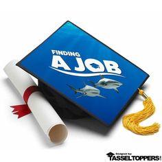 Finding Job Grad Cap Tassel Topper