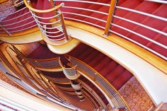 The staircase onboard luxury cruise ship Silver Spirit, Silversea Travel Pictures, Cruise, Spirit, Ship, Luxury, Silver, Travel Photos, Cruises, Money