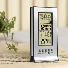 Thermometer Hygrometer Weather Station Humidity and Temperature Monitor Cl  Wireless Thermometer Alarm Clock Temperature Tesster