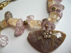 The Sun and The Moon ...sagenite agate citrine by ageratum on Etsy