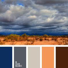 azul oscuro y marrón, color arena del desierto, colores para la decoración, elección del color, gris claro, gris oscuro, marrón, matices fríos y cálidos, paletas de colores para decoración, selección de colores.