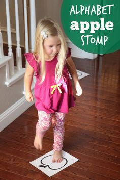 Toddler Approved!: Alphabet Apple Stomp Game for Kids