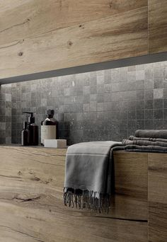 Bad Inspiration, Bathroom Inspiration, Bad Wand, Stone Bathroom, Wood Joinery, Natural Stones, Decoration, Sink, New Homes