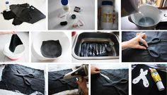 diy molded leather clutch, danish instructions, so glad chrome translates for me