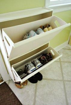 schuhaufbewahrung einlage selbst bauen - Selbermachen – 35 coole Schuhaufbewahrung Ideen
