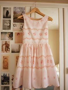 I made up an imaginary label for my creations called flowerfawn :)   This dress cost me around £2.00 to make - £1.50 for the vintage flat  bedsheet and about 50p for the zip :)