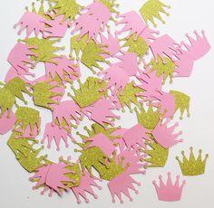 Glitter oro e rosa corona coriandoli  1 pollice di thememorybookco