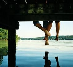 A slow day, hanging out at the lake, your feet dangling off the dock with your favorite person.