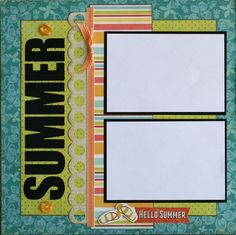 This is a premade 12 x 12 Scrapbook Double Page Layout It is made to hold (5) 4 x 6 photos or anything smaller. *** The white paper used in
