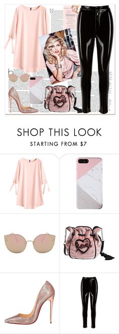 """""""THE GIRL"""" by followme734 ❤ liked on Polyvore featuring Christian Louboutin, tunic, PinkBag, Datelook, zaful and pulether"""