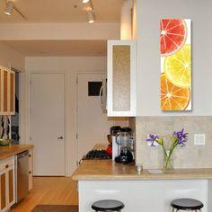Citrus Design Canvas Wrap Orange Lemon Grapefruit Kitchen Art Wall Art Wedding Gift
