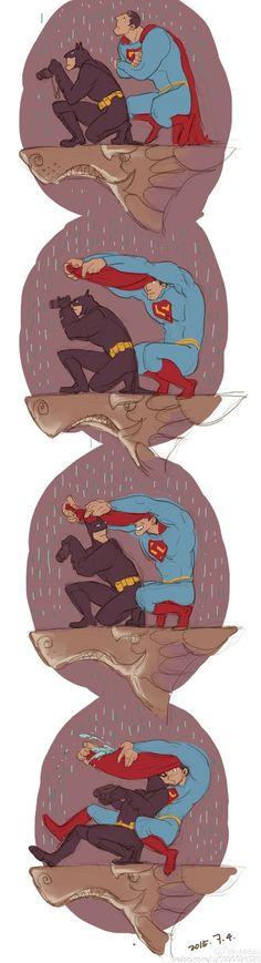 Clark Kent x Bruce Wayne - SuperBat Marvel Dc, Marvel Comics, Dc Superhero Girl, Superman X Batman, Yuri, Arte Dc Comics, Superbat, Fanart, Clark Kent