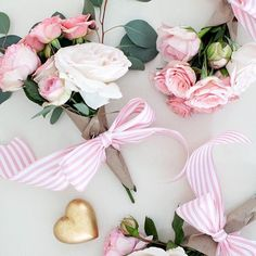 Seriously in love with these sweet  on @smpliving #SMPLoves #inspiration #bouquets #flowers #partyideas #valentines