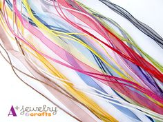 Pre-made necklace cords with clasps - every colour! This makes jewelry designing easy!