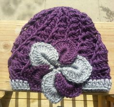 Purple and Gray Chrochet Hat by KendallsKlosets on Etsy, $20.00