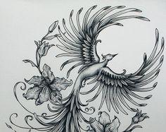 Phénix renaissant échantillon d'Art par jennifermckayhiggins