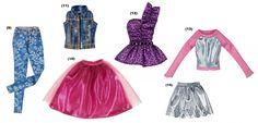 2014 Assorted (second wave) Mattel Barbie, Barbie Dolls, Barbie Fashionista, Barbie Accessories, Barbie Clothes, Cute Baby Animals, 2000s, Skater Skirt, Cute Babies