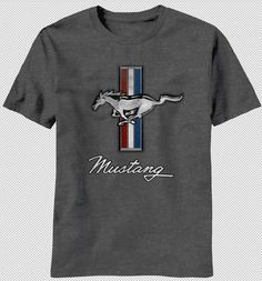 NEW Ford Mustang Horse American Flag Muscle Car Vintage Faded Logo T-shirt top http://www.carhootsstore.com/product/new-ford-mustang-horse-american-flag-muscle-car-vintage-faded-logo-t-shirt-top/?utm_source=Pinterest&utm_medium=Ebay%20Pin&utm_content=MustangGreyFaded&utm_campaign=Clothing